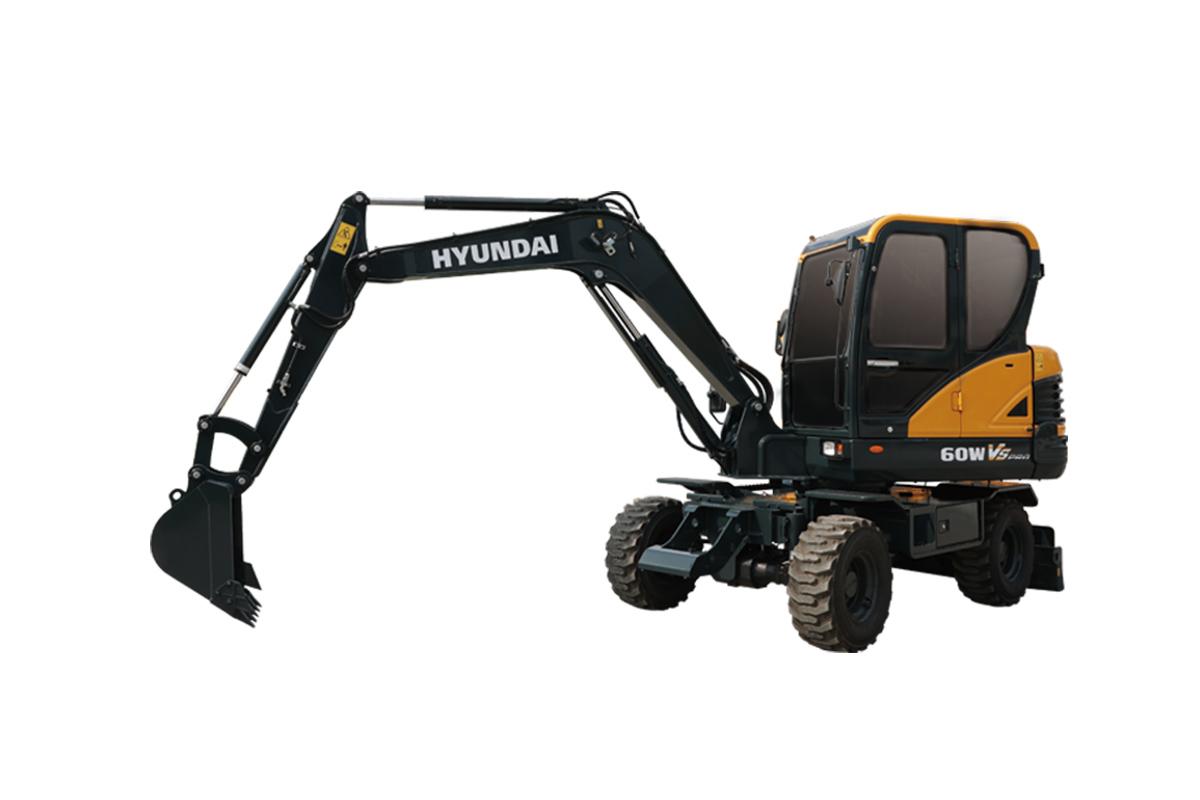 现代重工R60WVS PRO轮式挖掘机高清图 - 外观