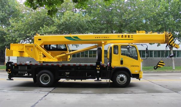 森源重工国六新款10吨汽车起重机高清图 - 外观