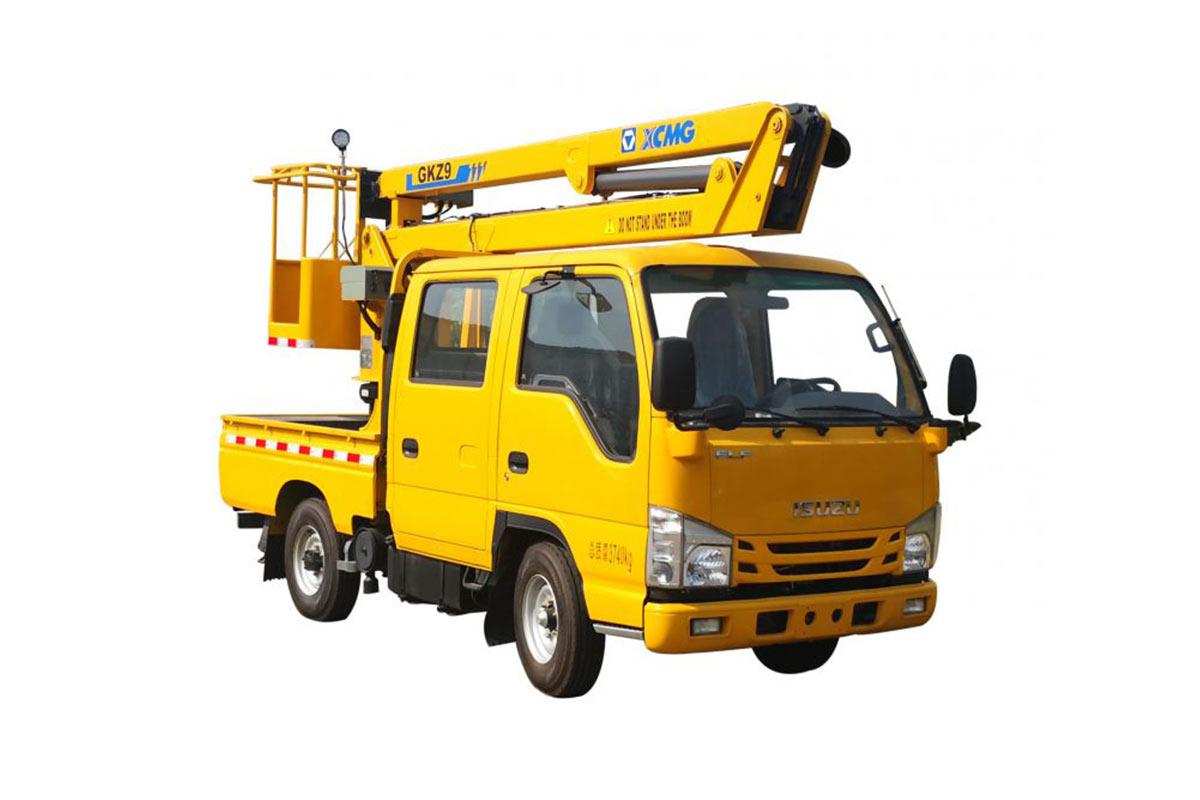 徐工XGS5040JGKQ69米折疊臂高空作業車高清圖 - 外觀