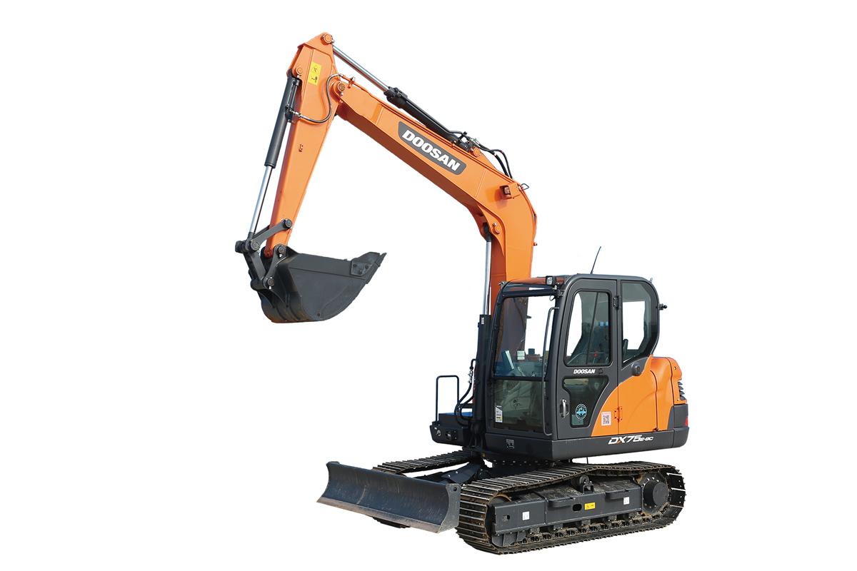 斗山DX75E-9C挖掘机高清图 - 外观