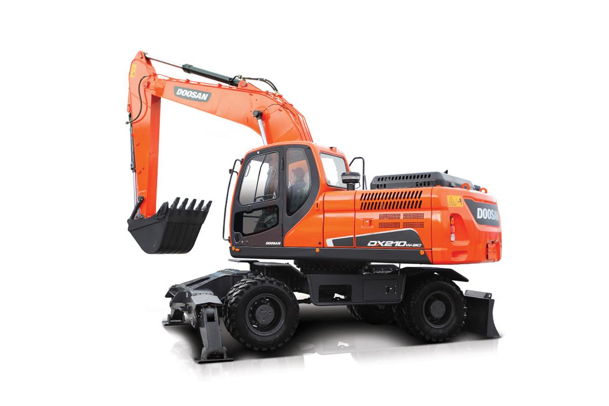 斗山DX210W-9C轮式挖掘机高清图 - 外观
