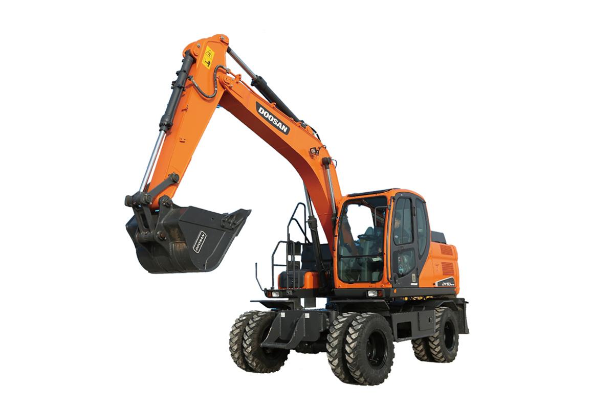 斗山DX150WE-9C輪式挖掘機高清圖 - 外觀