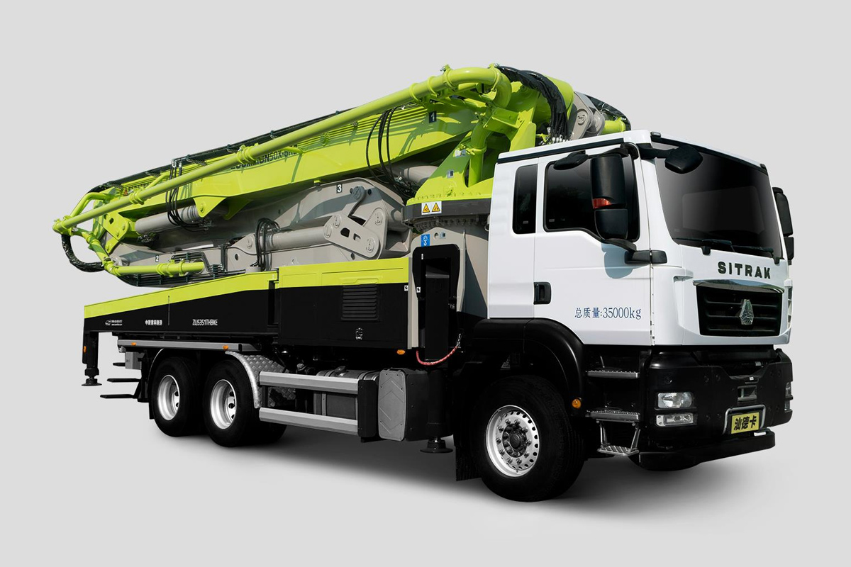 中聯重科ZLJ5351THBKF 50X-6RZ三橋50M重汽汕德卡國六泵車高清圖 - 外觀