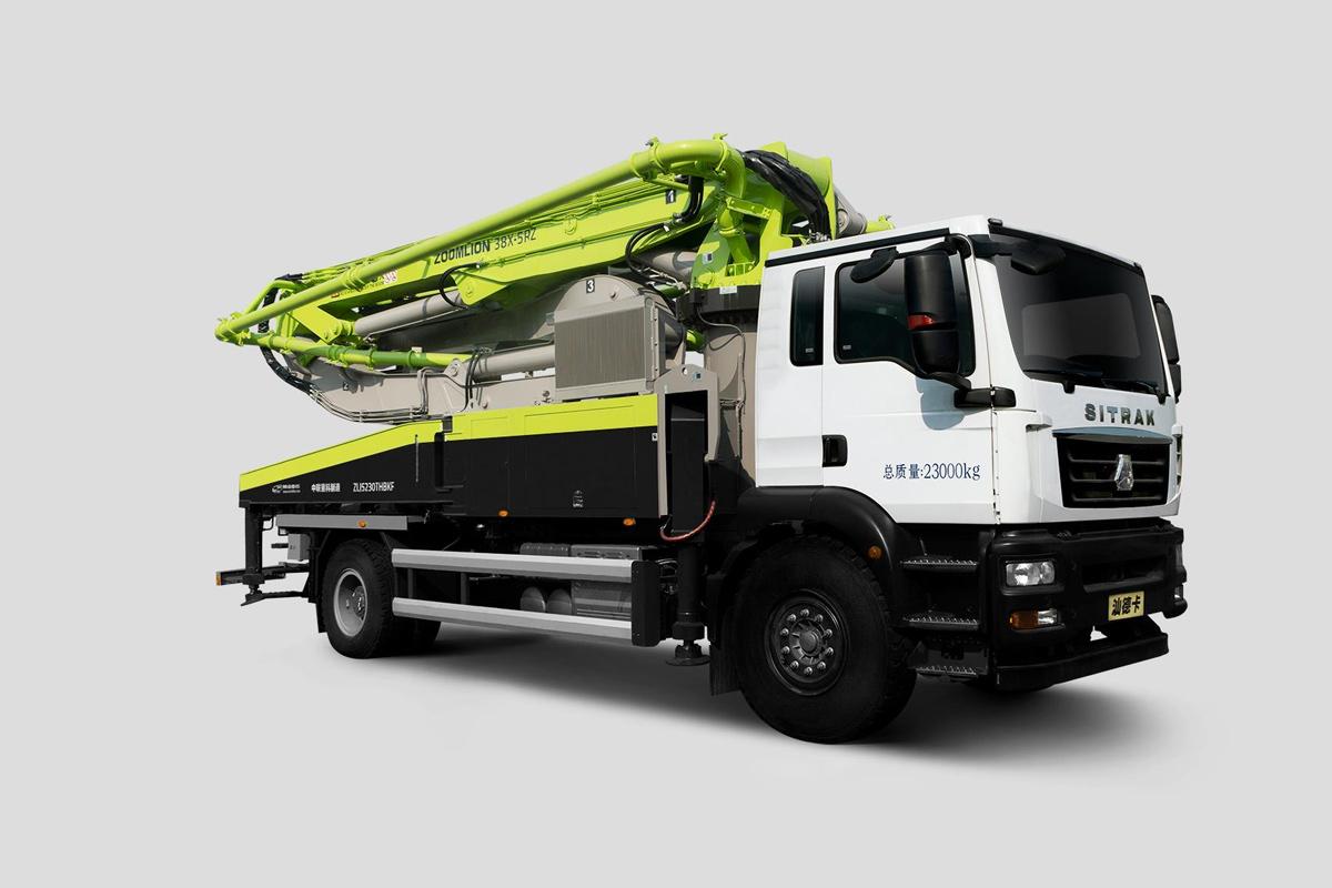 中聯重科ZLJ5230THBKF 38X-5RZ二橋38M重汽汕德卡國六泵車高清圖 - 外觀