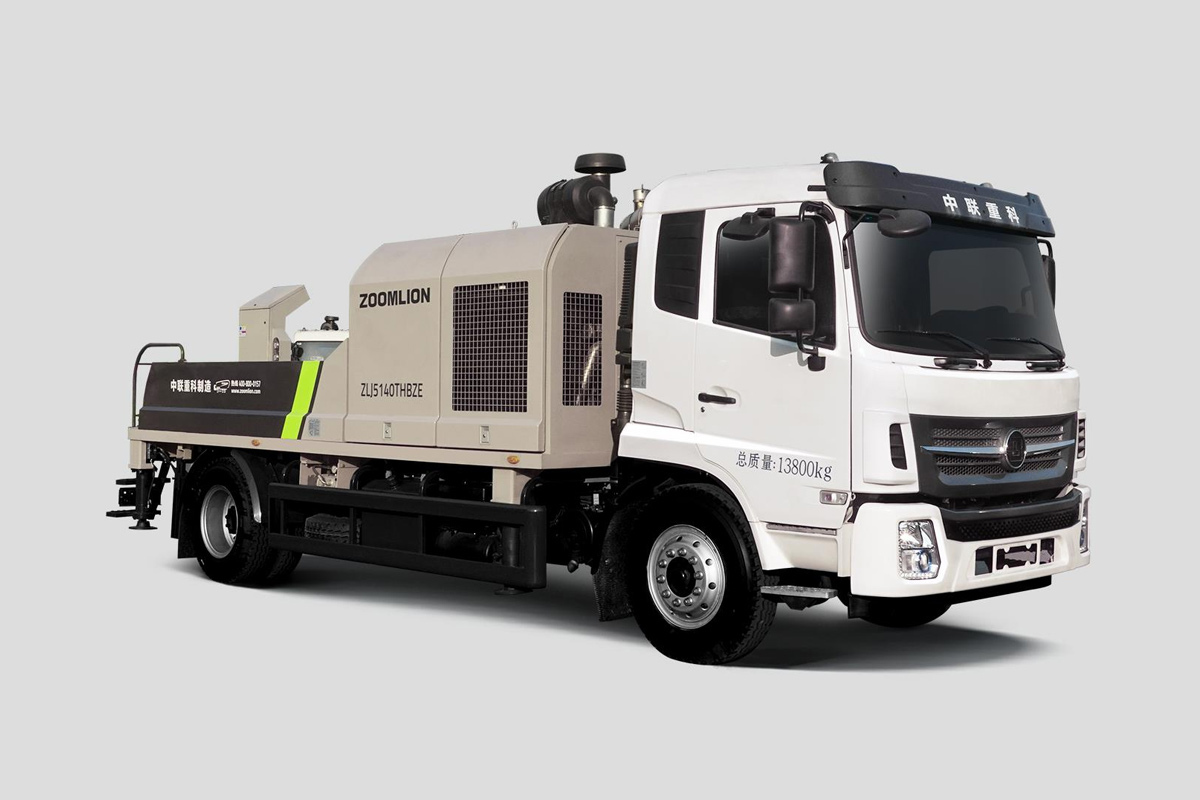 中聯重科ZLJ5140THBZE-10020R20MPa邦樂國五車載泵高清圖 - 外觀