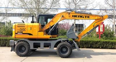 恒特HT125W轮式挖掘机高清图 - 外观