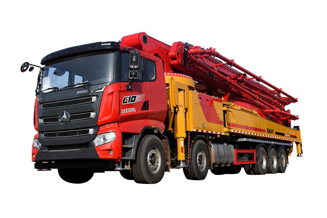 三一重工SYM5550THB 680C-1068米混凝土泵車高清圖 - 外觀