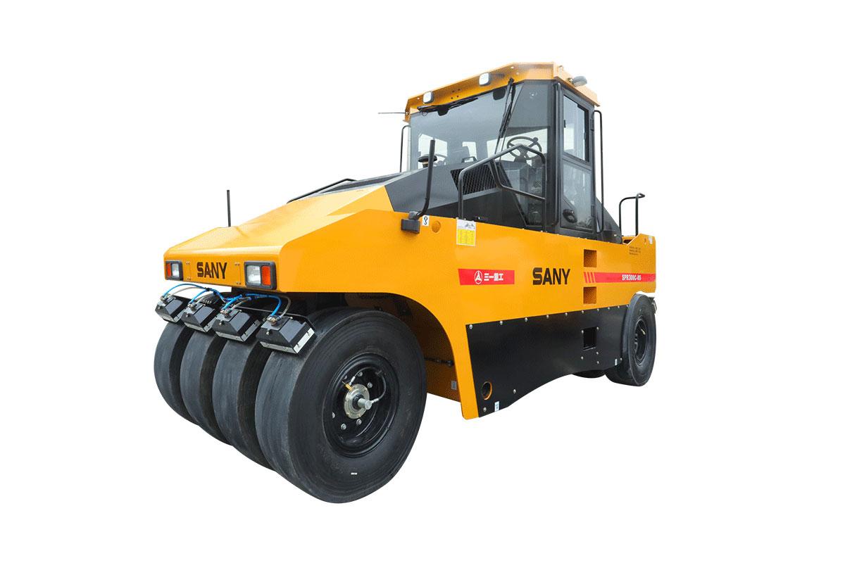 三一重工SPR300C-8S30吨轮胎压路机(前五后六、前四后五)高清图 - 外观