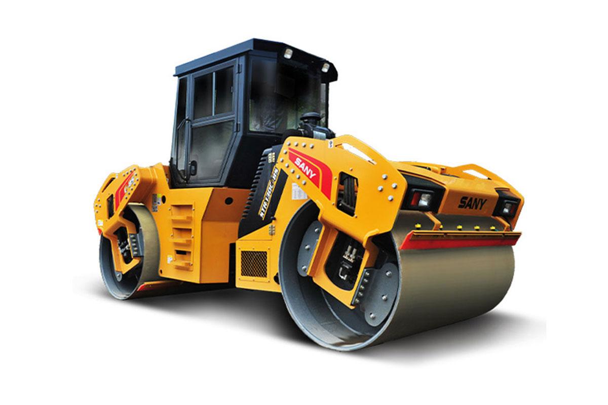 三一重工STR140C-8S双钢轮压路机高清图 - 外观