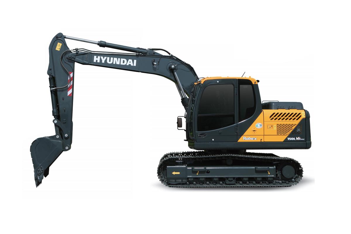 现代重工Robex 150LVS PRO挖掘机高清图 - 外观