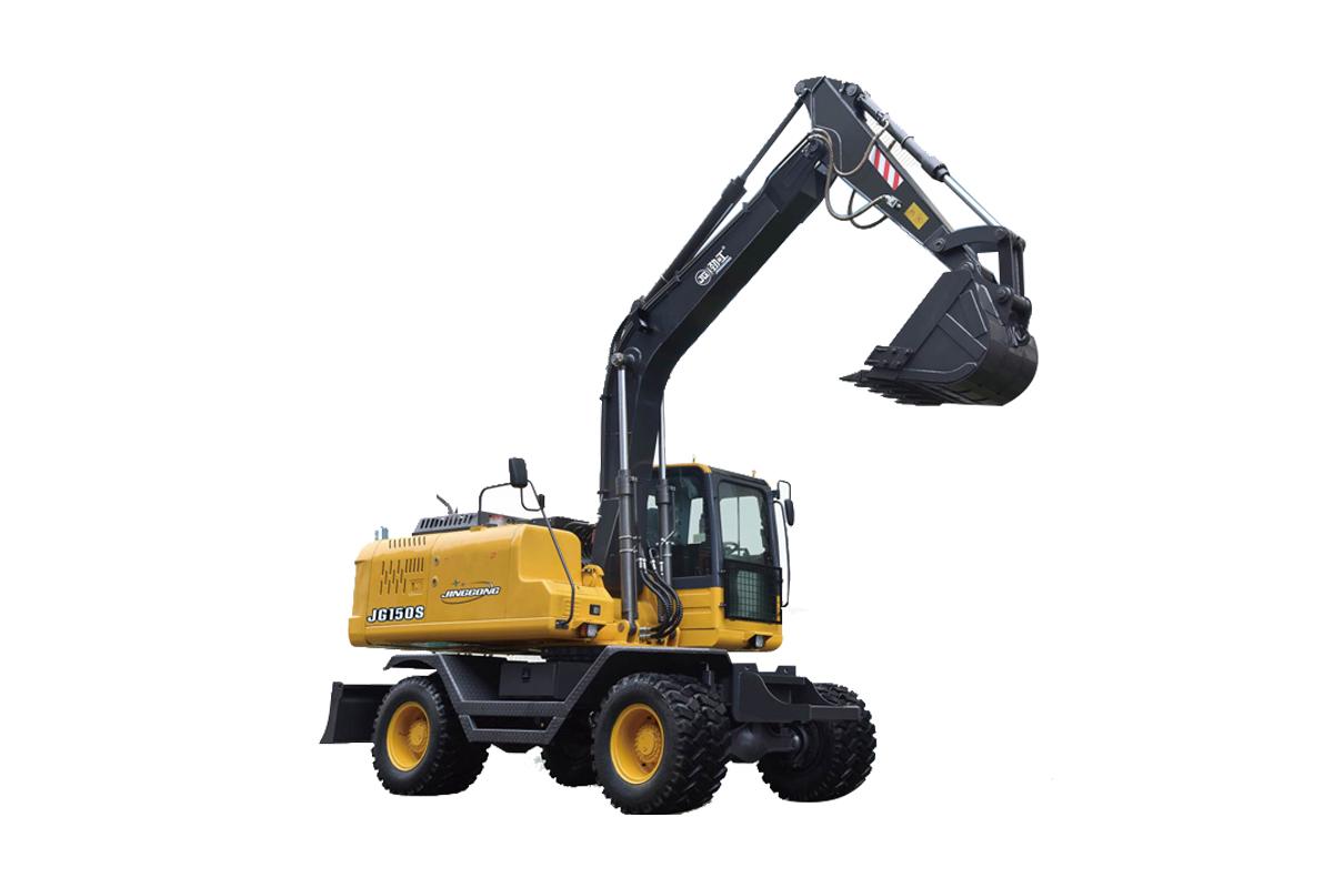 劲工JS150S轮式挖掘机高清图 - 外观