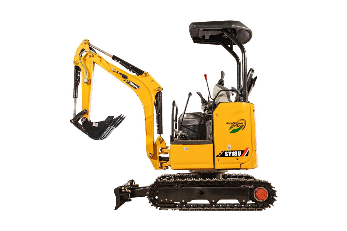三一重工SY18U微型挖掘機高清圖 - 外觀
