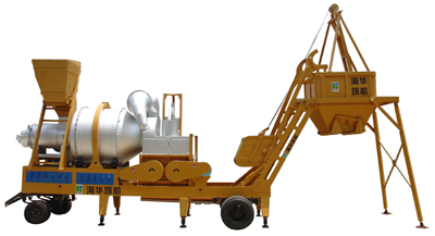 海华筑机YQL系列移动强制式沥青混凝土搅拌设备高清图 - 外观