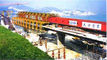 大方DZ42/1000T型上行式造桥机高清图 - 外观