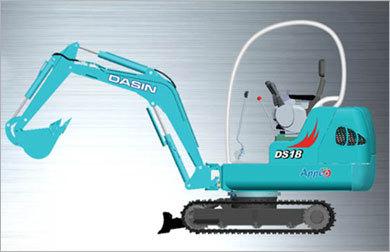 大信DS18小型液压挖掘机高清图 - 外观