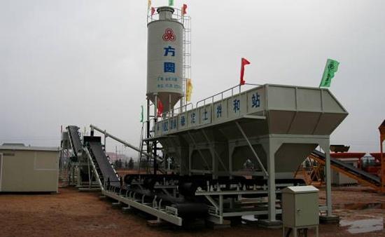 方圆WBZ400-R(B)容积计量变频调速稳定土拌和站