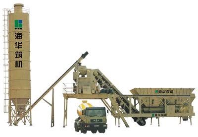 海华筑机YHZ系列移动式水泥混凝土搅拌设备高清图 - 外观