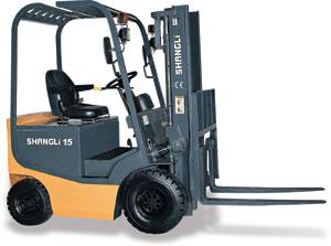 上力重工1~1.5吨蓄电池平衡重式叉车高清图 - 外观