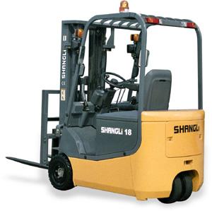 上力重工1~1.5吨3支点蓄电池平衡重式叉车高清图 - 外观