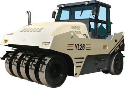 路星YL26型轮胎压路机高清图 - 外观