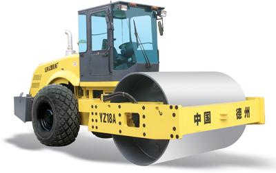 路星YZ18A单钢轮振动压路机高清图 - 外观