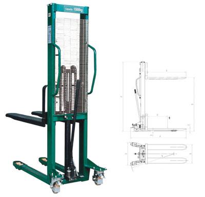 诺力SFHXX16-A手动堆高车高清图 - 外观