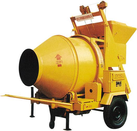 银锚JZC350A锥型反转出料混凝土搅拌机高清图 - 外观
