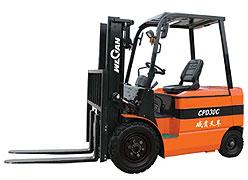 威肯3吨电动平衡重式叉车高清图 - 外观