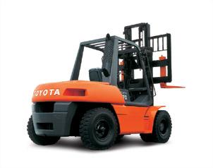 丰田5FD70内燃平衡重式叉车高清图 - 外观