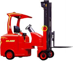 台励福NA2.0窄道式电动叉车高清图 - 外观