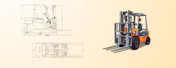 江淮重工CPCD18平衡重式内燃叉车