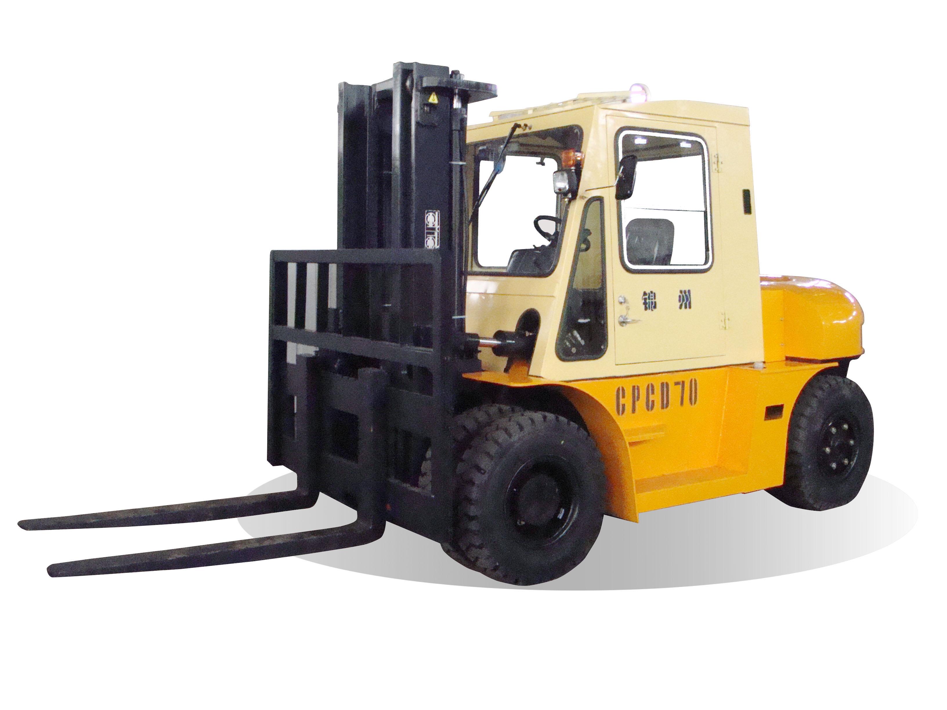 万力7吨内燃叉车高清图 - 外观