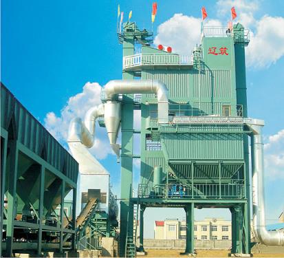 遼筑LJ2000型瀝青混合料攪拌設備(主機全部彩板保溫綠色環保型儲料倉下置)