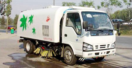 亚洁BQJ5070TSLN型扫路车高清图 - 外观