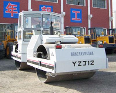 朝工YZJ12双钢轮压路机高清图 - 外观