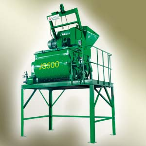 北山JS500双卧轴强制式混凝土搅拌机高清图 - 外观