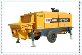 贝司特HBT80D拖式混凝土泵高清图 - 外观