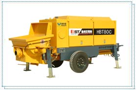 贝司特HBT80C拖式混凝土泵高清图 - 外观